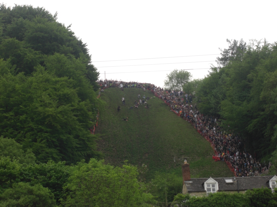 What is the Coopers Hill Cheese Rolling in Gloucestershire?