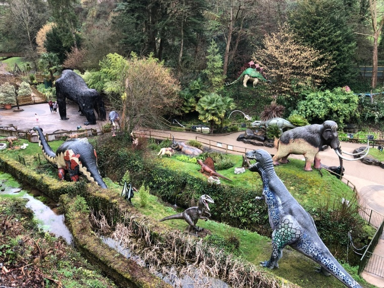 Wookey Hole Caves Review – kids go free - valley of the dinosaurs