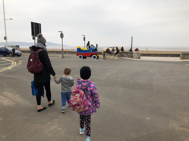 A few hours in Weston-super-Mare - horse and cart