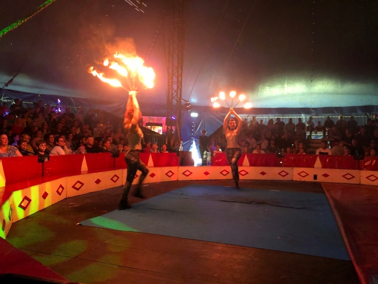 Circus Funtasia Review Fire Throwers