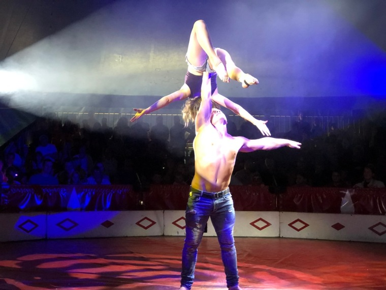 Circus Funtasia Review Performers in spotlight.jpg
