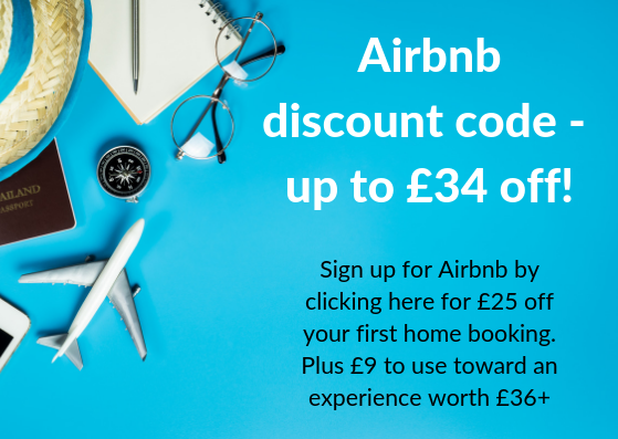 Airbnb discount code new customer UK