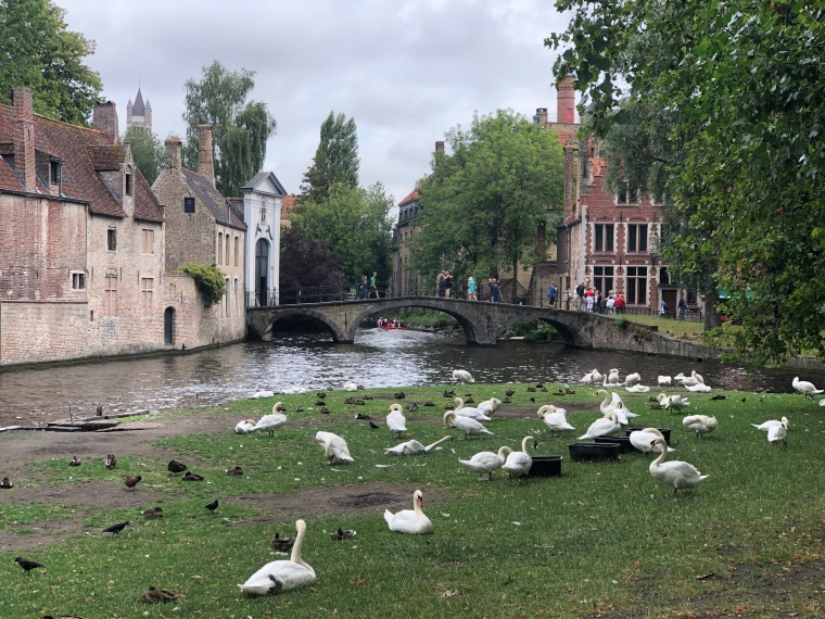 Love park - A day in Bruges with kids on our Europe road trip