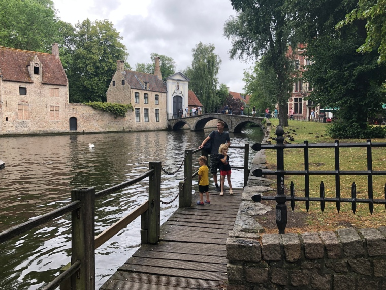 Love lake - A day in Bruges with kids on our Europe road trip