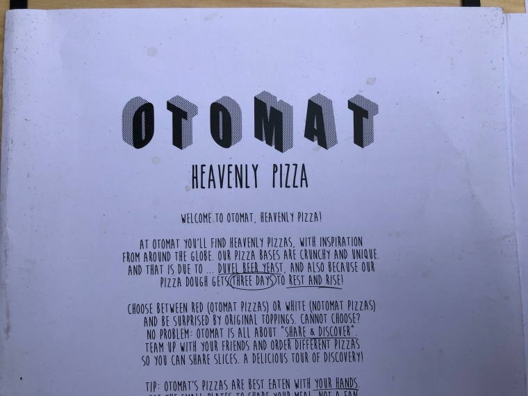 Otomat vegan pizza