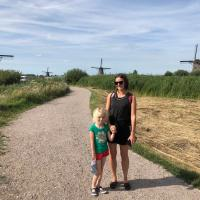Europe family road trip day 1 - England to Netherlands / UNESCO World Heritage Kinderdijk / Camping Vliegenbos