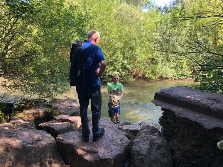 Skenfrith Castle Wales with kids