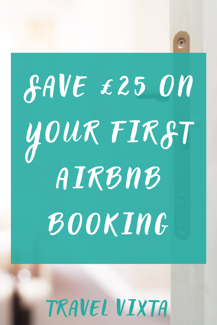 Save £25 on your first Airbnb accommodation booking (1)