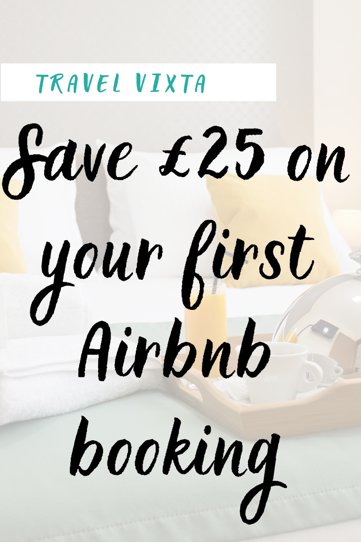 Save £25 on your first Airbnb accommodation booking