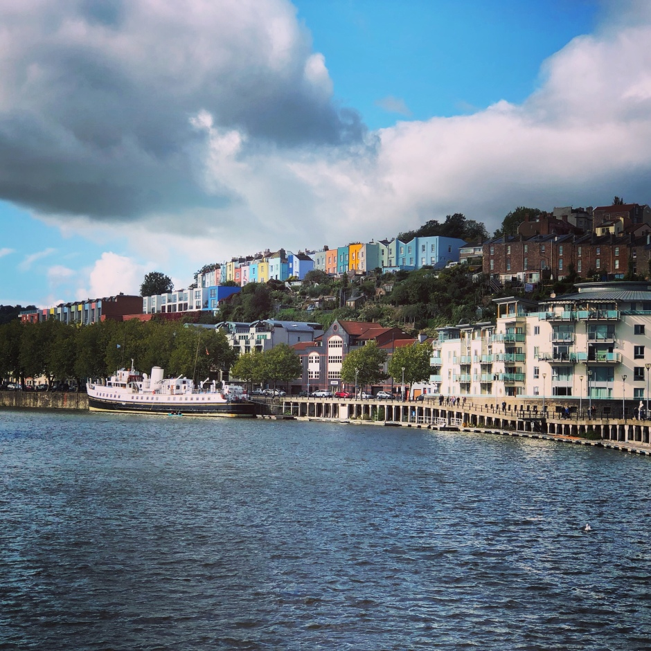 Colourful houses clifton bristol harbour view