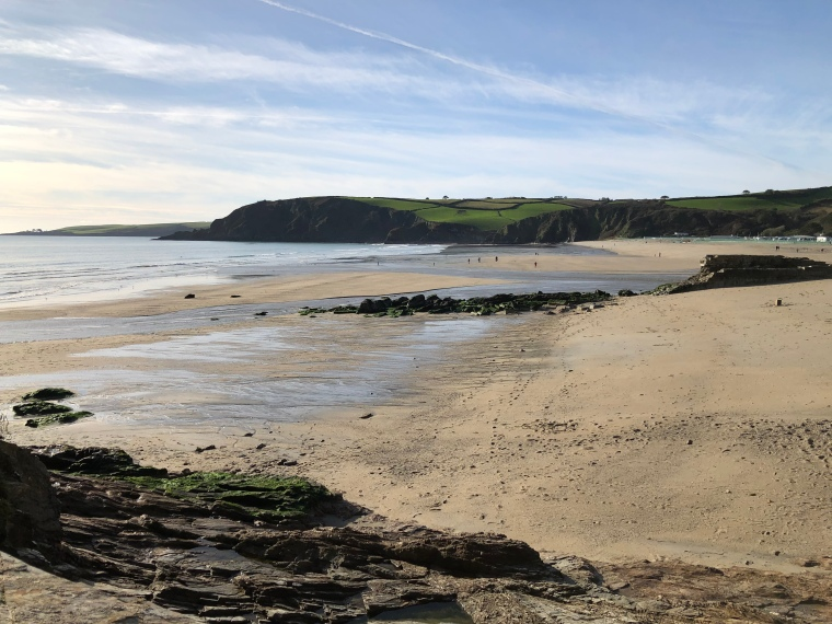 Visiting Pentewan Sands Beach in Cornwall with kids