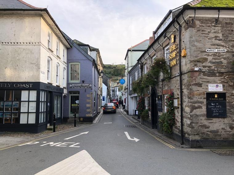Market Square Mevagissey Cornwall