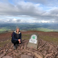 Brecon Beacons National Park Wales: Pen y Fan and Cribyn mountain walk