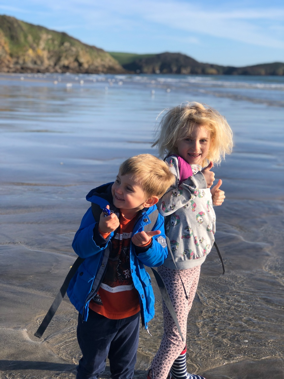 Cornwall with kids: Pentewan Sands Beach