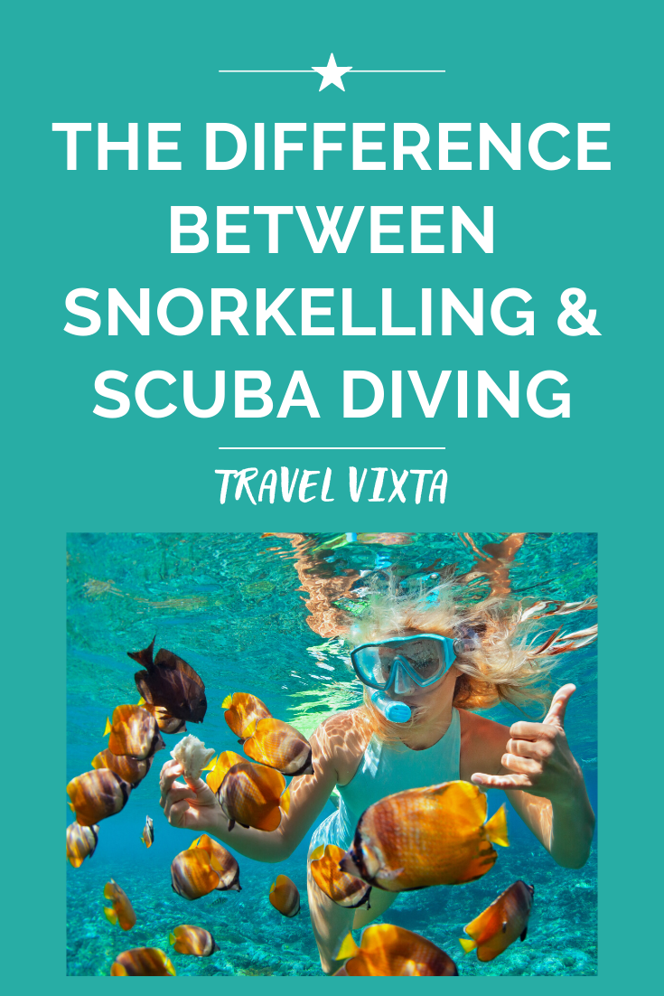 Snorkelling & scuba diving – the difference between the two