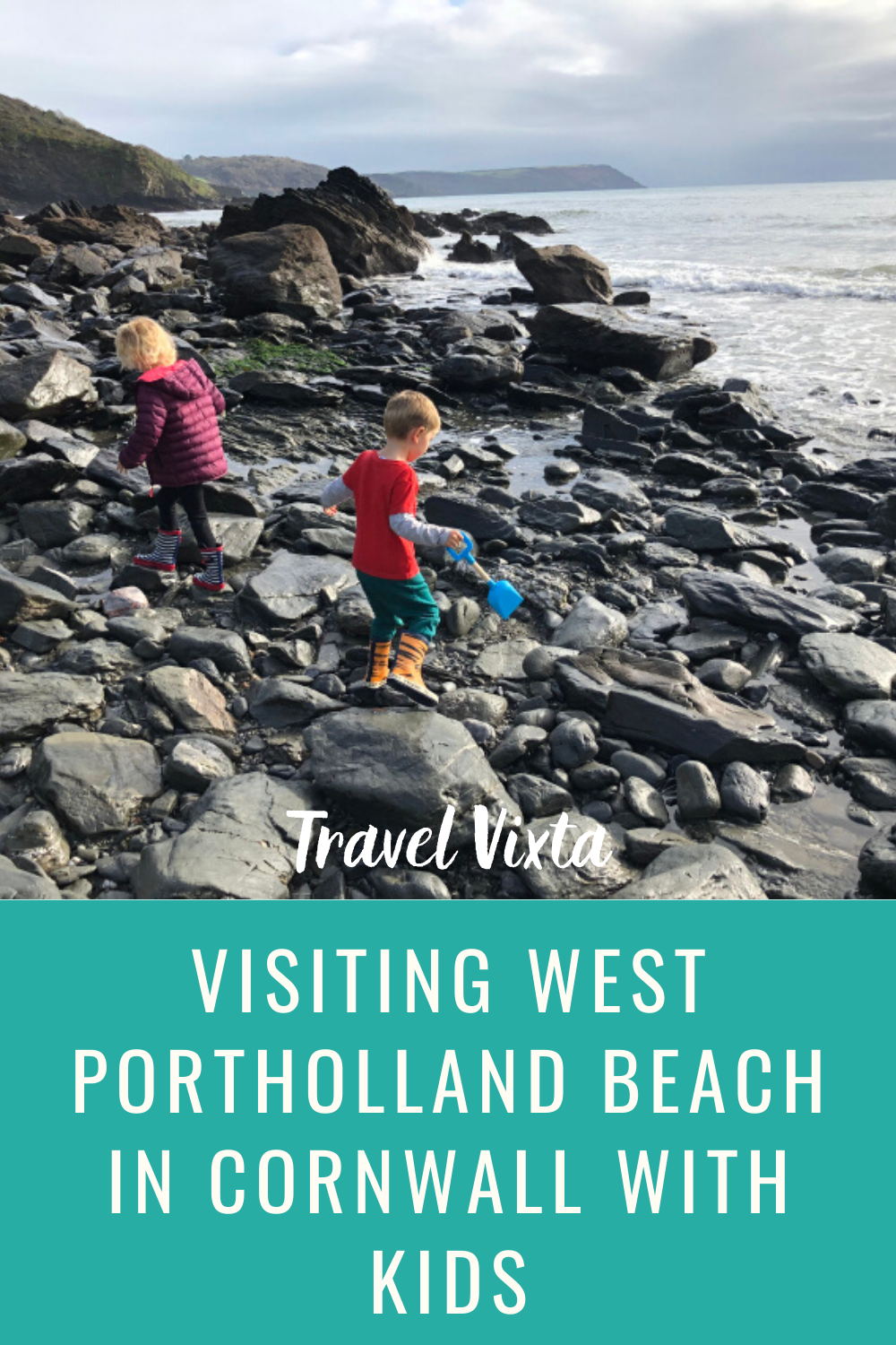 Visiting West Portholland beach in Cornwall with kids