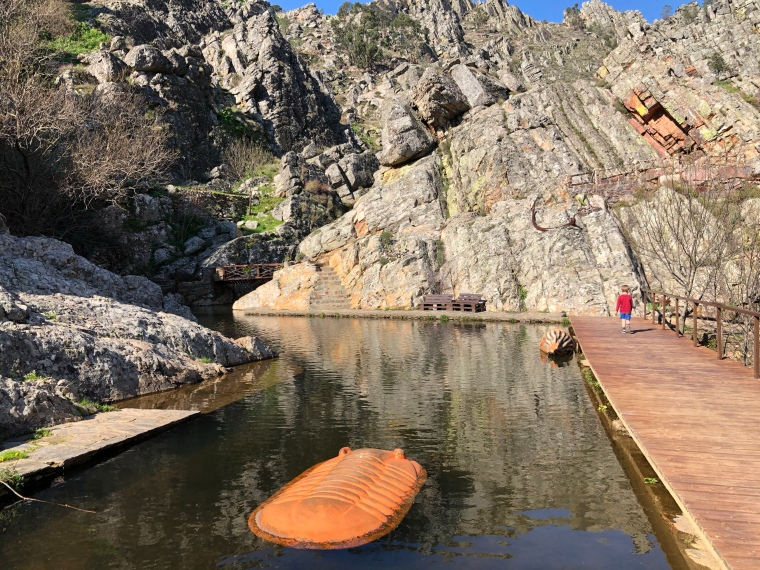 Fossil mountains + swimming lake Penha Garcia Castelo Branco Portugal travel with kids