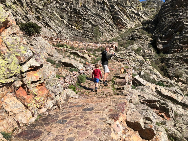 Fossil mountains Penha Garcia Castelo Branco Portugal travel with kids