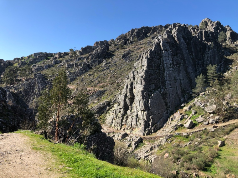 Fossil mountain hike  Penha Garcia Castelo Branco Portugal travel with kids