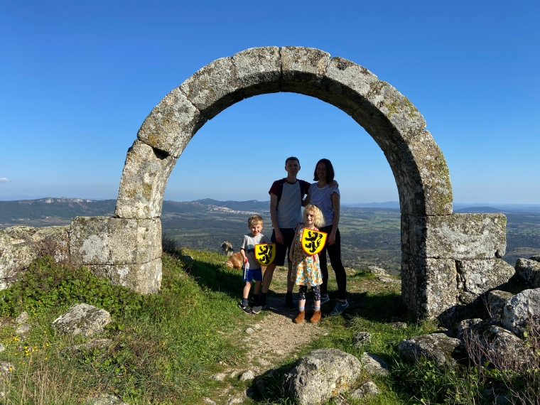 rock village + castle of Monsanto Portugal travel with kids