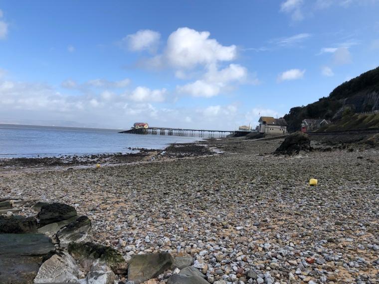 Mumbles beach and pier