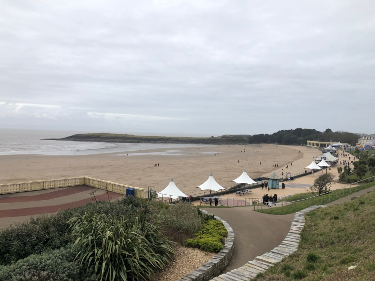 Whitmore Bay beach Barry Island Wales