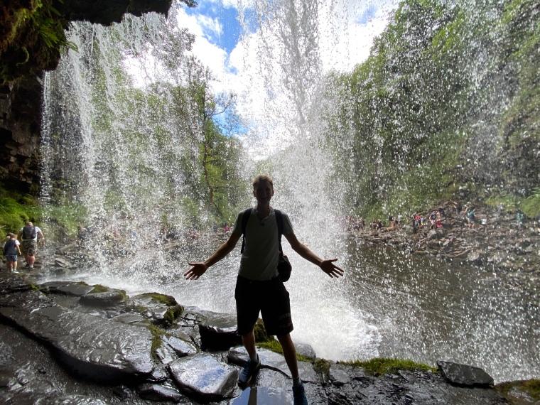 Ystradfellte waterfalls Brecon Beacons National Park four waterfalls walk