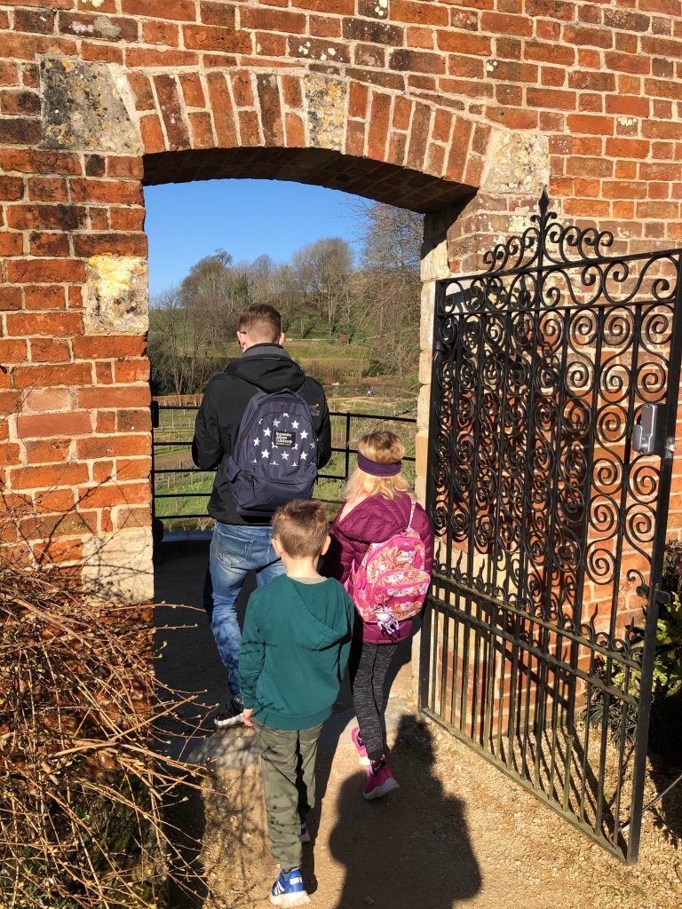 Painswick Rococo Garden February with kids