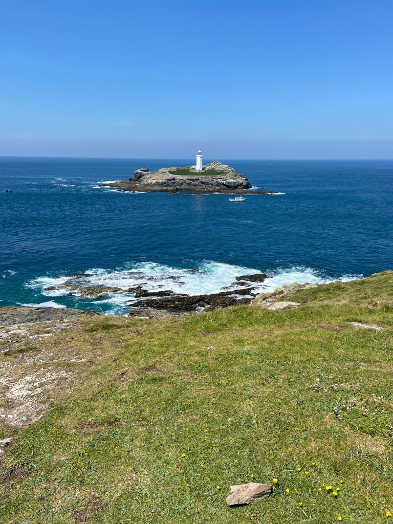 Godrevy lighthouse in Cornwall