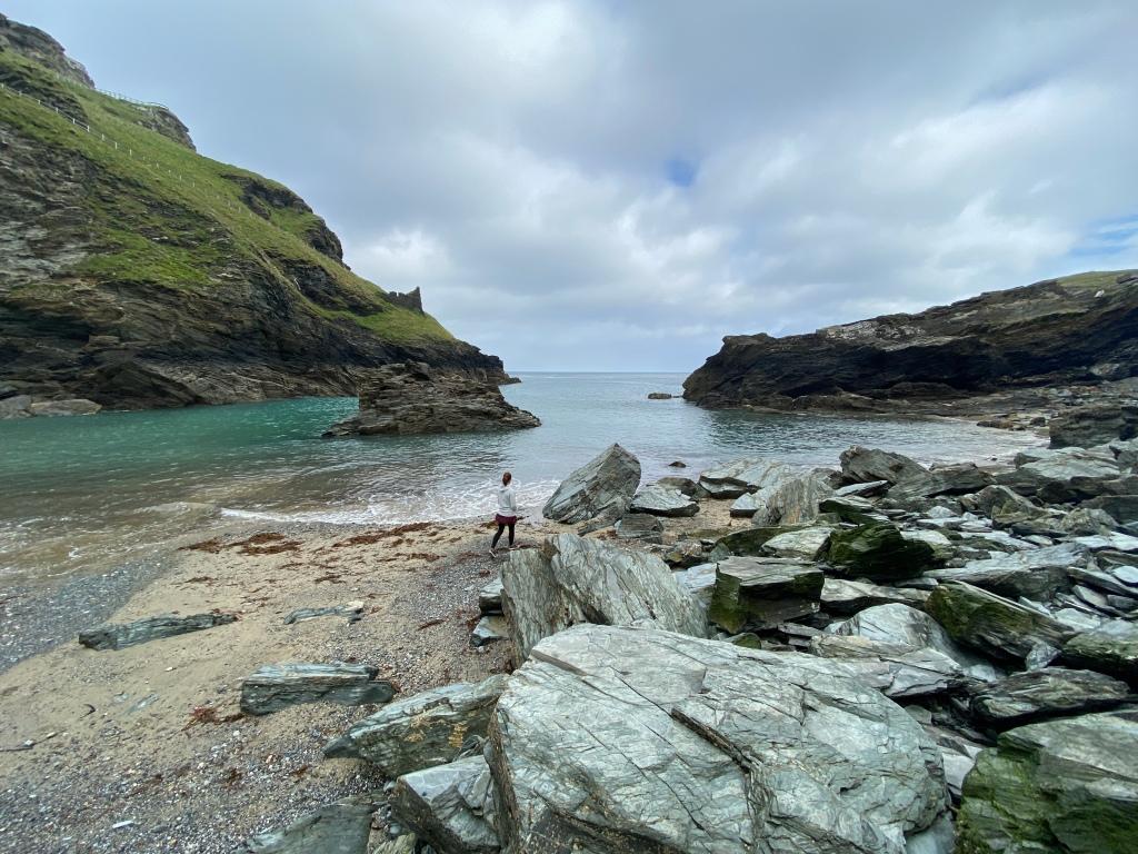 Tintagel beach in Cornwall