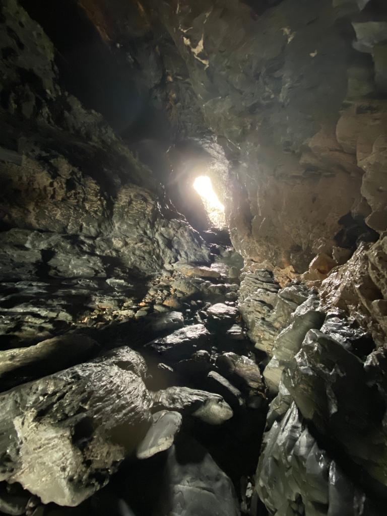 merlins cave Tintagel beach in Cornwall
