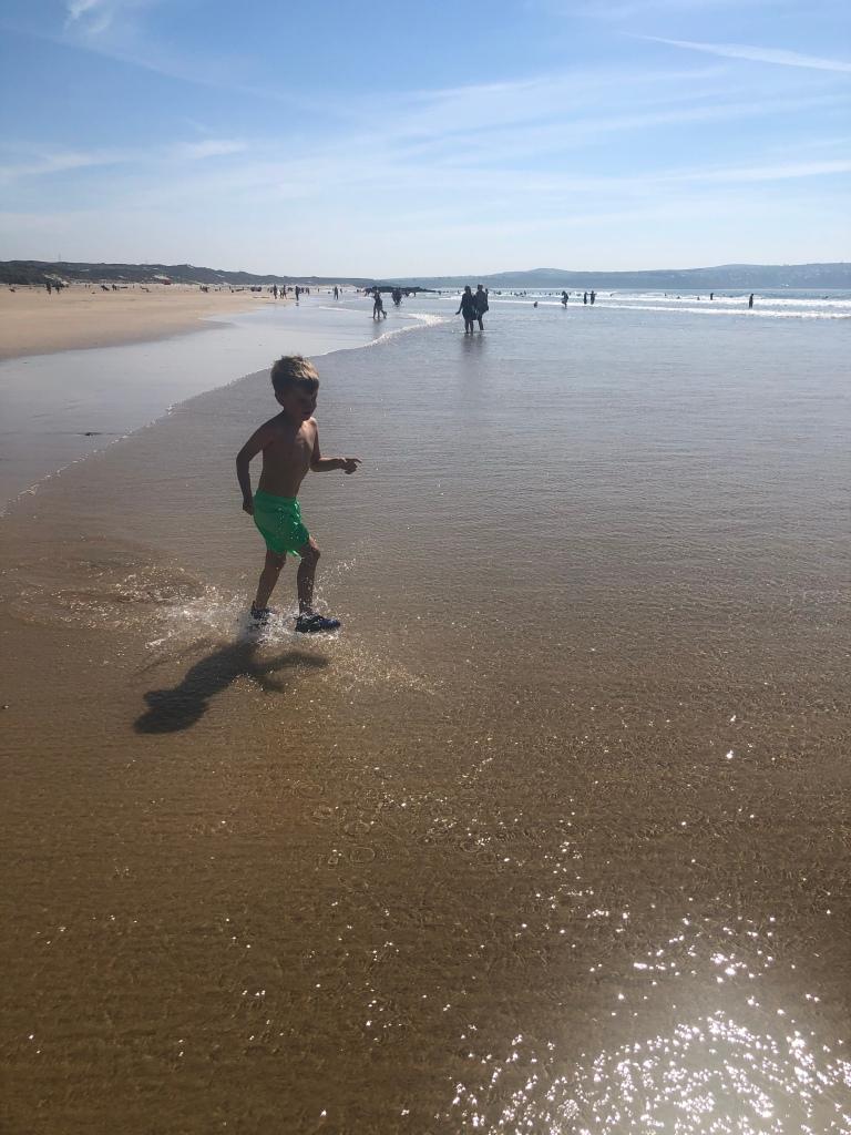 The Towans beach in Cornwall