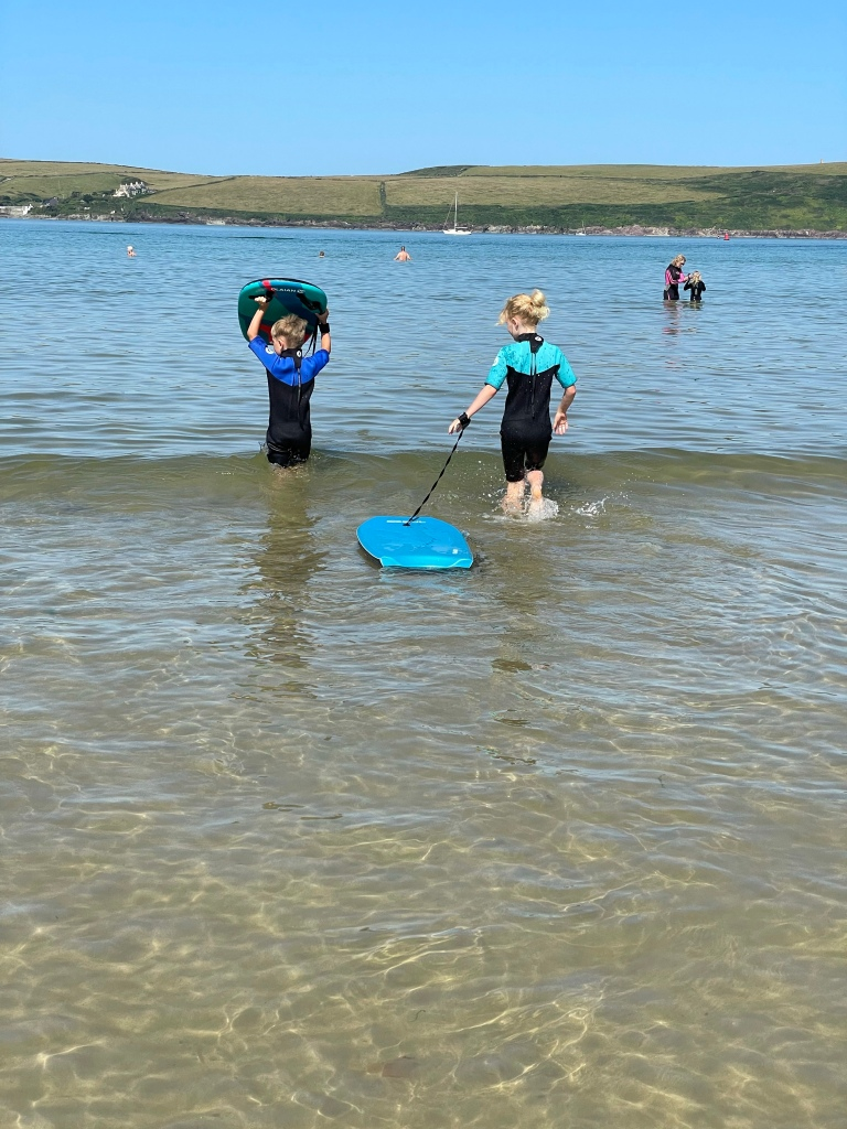 Daymer Beach good for young kids bodyboarding