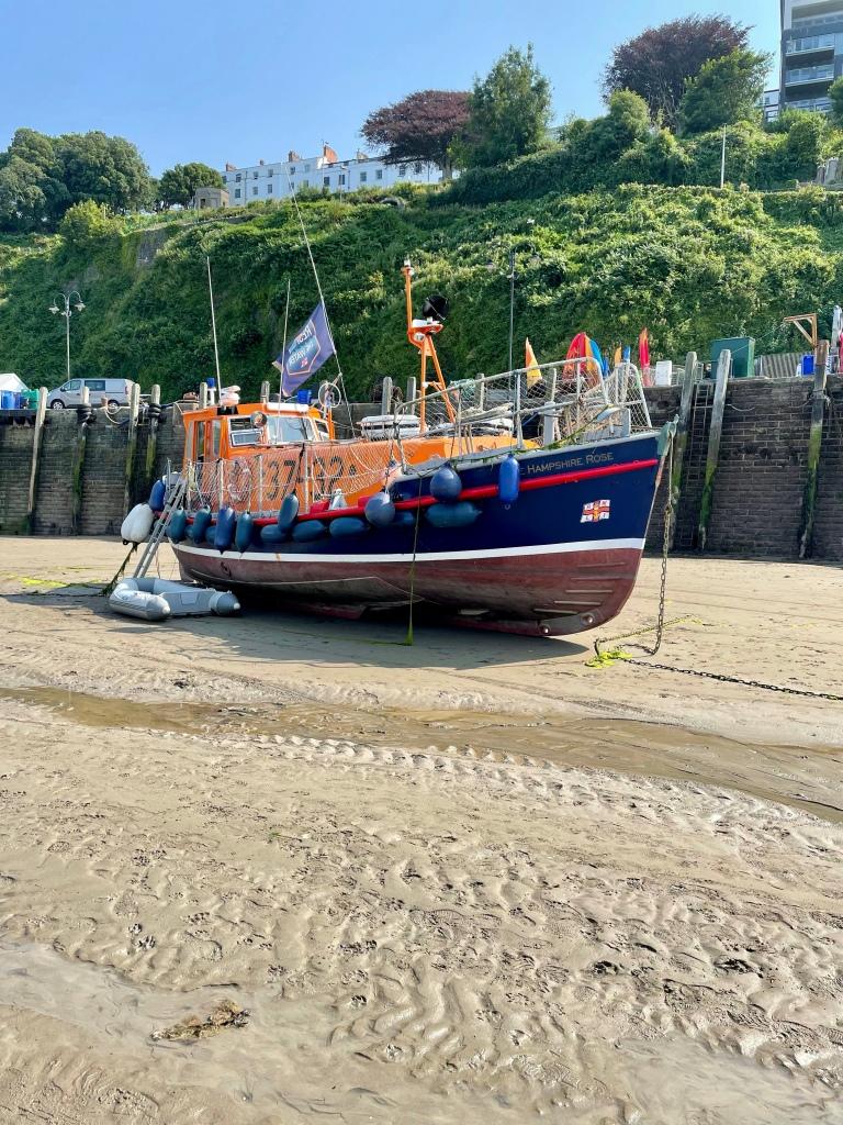 RNLI boat Ilfracombe harbour